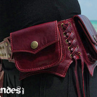 Reserved for Alexah  Leather Utility Hip Belt BaG  by offrandes