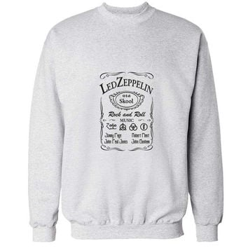 led zeppelin sweater White Sweatshirt Crewneck Men or Women for Unisex Size with variant colour