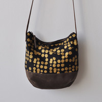 MID DAY BAG - gold dots/wax