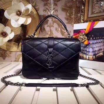 Ysl Saint Laurent Monogram Leather College Chain Shoulder Bag
