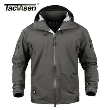 Trendy TACVASEN Men Tactical Waterproof jacket Hard Shell Breathable Military Jacket Army style Camouflage Hunt Jacket Coat TD-JLHS-024 AT_94_13