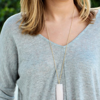 Right Time Necklace - Light Pink