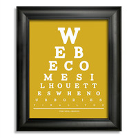 The Postal Service Eye Chart, We Become Silhouettes When Our Bodies Finally Go, 8 x 10 Giclee Print BUY 2 Get 1 FREE