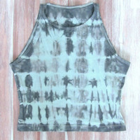 Tie-Dye Summer Crop Top-Tie-Dye Crop Top-Summer Yoga Crop Top-Workout Crop Top-American Apparel