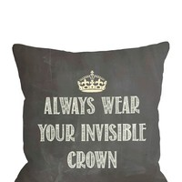 HauteLook   Fashionista Pillows & Totes: Invisible Crown Chalkboard Pillow