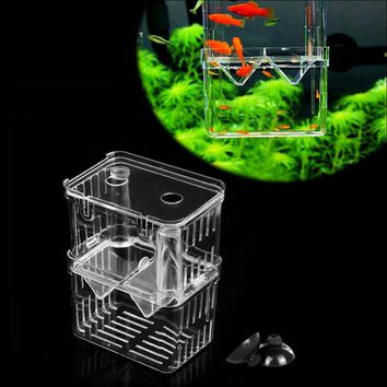 Acrylic 1PC Aquarium Fish Breeding Hatchery Young Fish Incubator Breeder Isolation Tank Box Aquario Fish Items Accessory