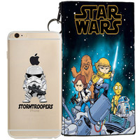 Star Wars (Storm Trooper) Jelly Clear Case For Apple Iphone 6/6s + Pouch