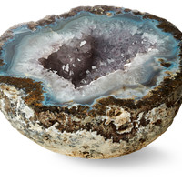 Gray Geode, Large, Rocks, Crystals, Minerals & Petrified Wood