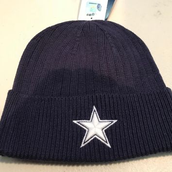 DALLAS COWBOYS NFL MITCHELL AND NESS CUFF WINTER KNIT HAT SHIPPING