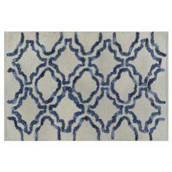 Stonewash Geometric Ogee Bath Rug - Threshold™