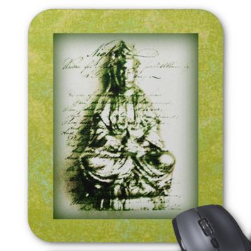 Antique Green Kwan Yin mousepad