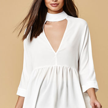 Lucca Couture Choker Neck Peplum Top at PacSun.com