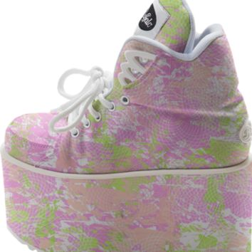 Spring Pastel Abstract Buffalo Platform Shoe created by KCavender | Print All Over Me