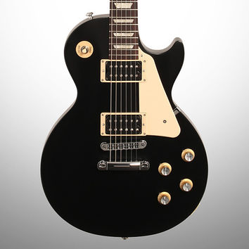 Gibson Les Paul '50s Tribute T Electric Guitar, Ebony, with Gig Bag, Mint
