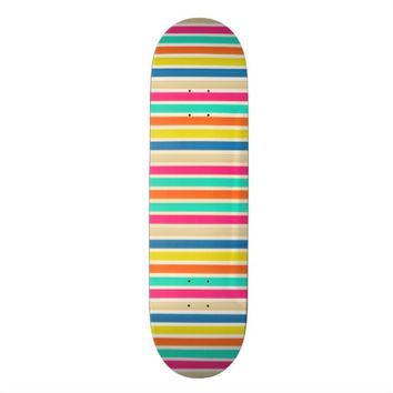 Summer Stripes Skateboard Deck