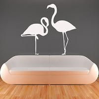 Wall Decals Flamingo Decal Vinyl Sticker Bathroom Kitchen Window Nursery Bedroom Home Decor Interior Design Art Murals MN713