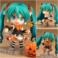 "J.G Chen Nendoroid Hatsune Miku Halloween Pumpkin Ver. #448 PVC Action Figure Model Collection Toy 4"" 10CM Alternative Measures"