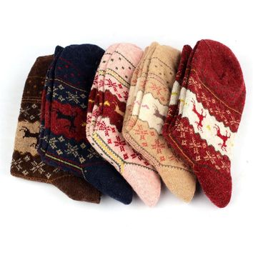 Christmas Socks Gift vintage Wool