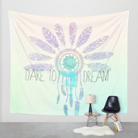 Dare To Dream Wall Tapestry by Sara Eshak