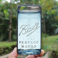 Classic,blue mason jar,iphone 5s case,iphone 4 case,iPhone4s case, iphone 5 case,iphone 5c case,Gift,Personalized,water proof