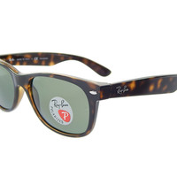Ray Ban Wayfarer RB2132 902/58 Havana/ Crystal Green 52mm Polarized Sunglasses