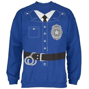 Halloween Policeman Costume Mens Sweatshirt