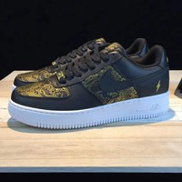 NIKE Air Force 1 AFT LOW Contrast Sports shoes Black G-CSXY