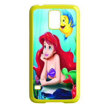 The Little Mermaid Disney Princess Ariel and Castle of Underwater Kingdom of Merfolk Samsung Galaxy S5 Case