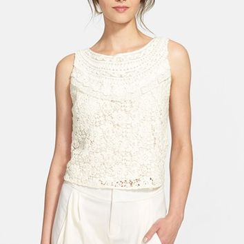 Women's Alice + Olivia 'Finlay' Embroidered Top,