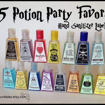 15 Wizard Potion Party Favor Labels DIY or by PartyScribbles