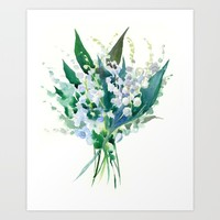 Lilies of the Valley Art Print by SurenArt