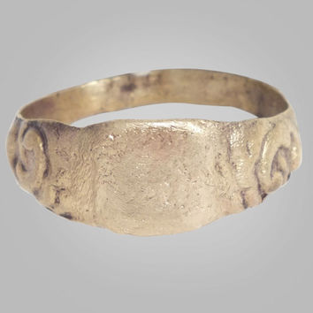 On Sale-Authentic  Medieval Mans  Ring C.13th-15th Century Size 13 (21.8mm)(BRR135)