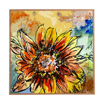 Ginette Fine Art Sunflower Moroccan Eyes Framed Wall Art