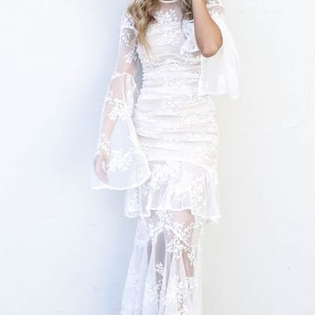 Pure Fascination Ivory Lace Maxi