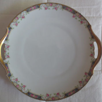 Cake Plate by Tirschenreuth Bavaria.  Pattern Franklin 4177.  Shabby Chic, Tea Party, Bridal Shower