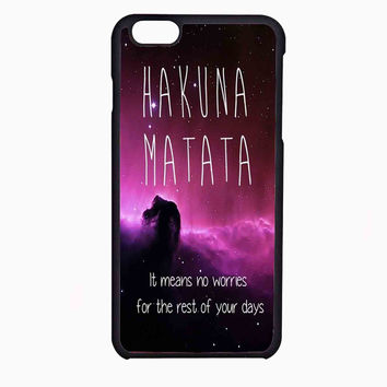 hakuna matata 7 FOR IPHONE 6 CASE NEWEST **