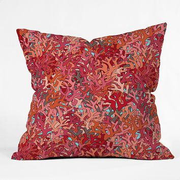 Sharon Turner Coral 2 Throw Pillow