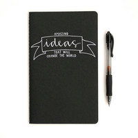 Idea Journal with Banner and Handwritten by sparrownestscript