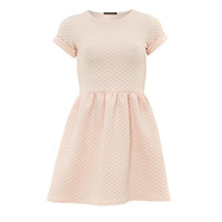QED London Pink Quilted Dress
