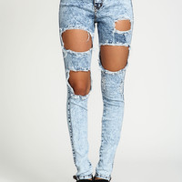 Cut Out Acid High Waisted Jeans