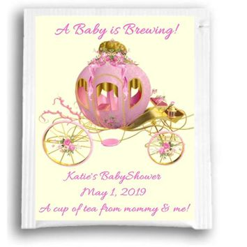 10 Princess Baby Shower Tea Favors Carriage