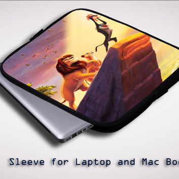 lion king ART Y1412 Sleeve for Laptop, Macbook Pro, Macbook Air (Twin Sides)