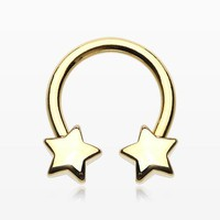 Golden Classic Star Horseshoe Circular Barbell