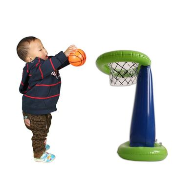 Kids Shoot Basket Game Inflatable Basketball Stands Child & Family Gatherings & Collective Game Prop Party Supply Inflatable Toy