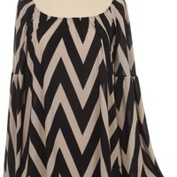 Chevron Belle Sleeve Top