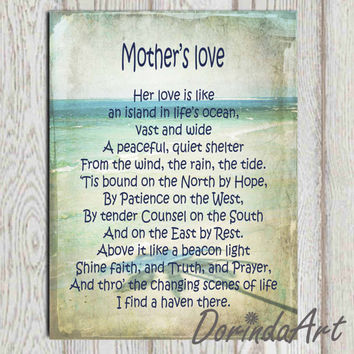 Mothers day gift idea print Mothers poem print Printable mother quote wall art 11x14, 5x7, 8x10 INSTANT DOWNLOAD Mom gift Mom poster print