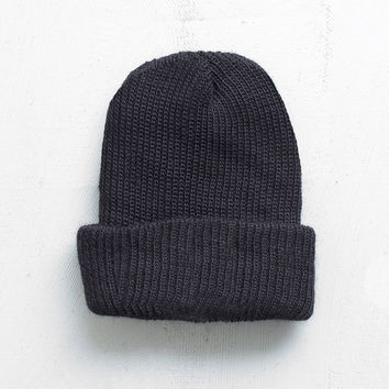 Basic Brushed Beanie in Black