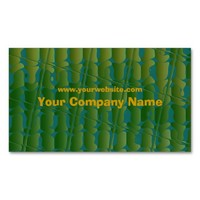 Tropical Inspired Green and Blue Pattern Double-Sided Standard Business Cards (Pack Of 100)
