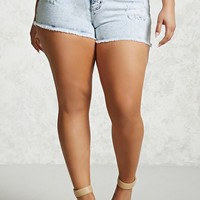 Plus Size Distressed Shorts