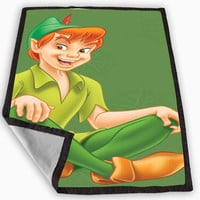 Peter Pan Smile Blanket for Kids Blanket, Fleece Blanket Cute and Awesome Blanket for your bedding, Blanket fleece **